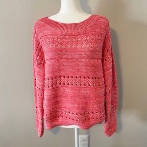 Gap Pink Boatneck Pullover Sweater